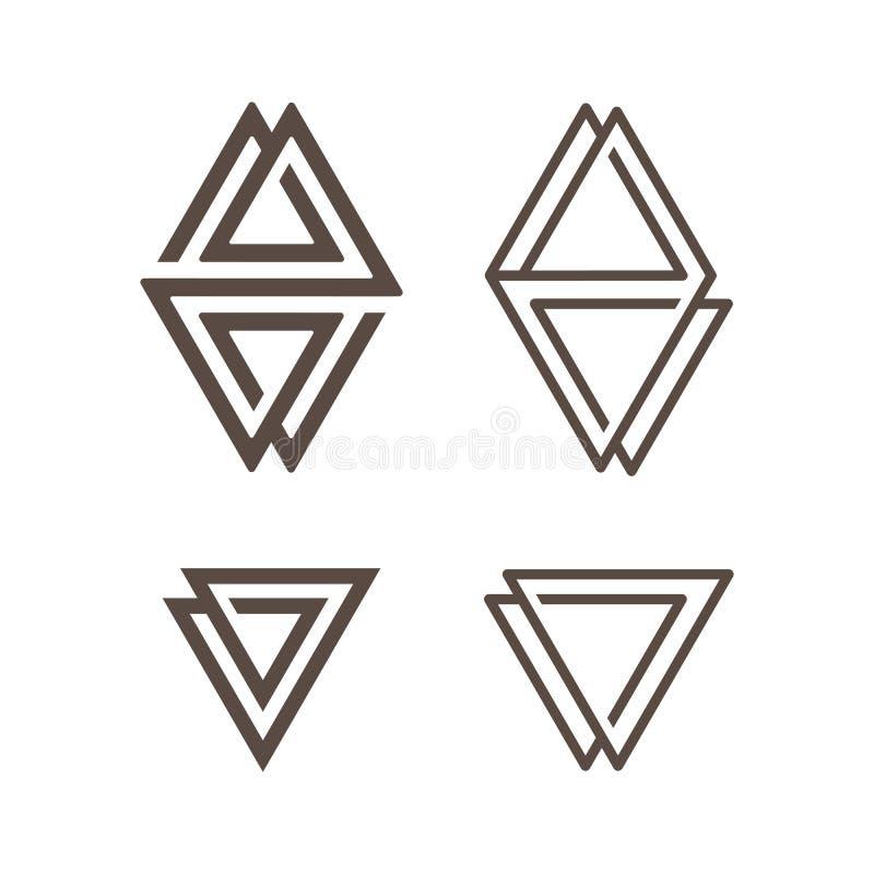 Insieme del logo astratto semplice illustrazione vettoriale
