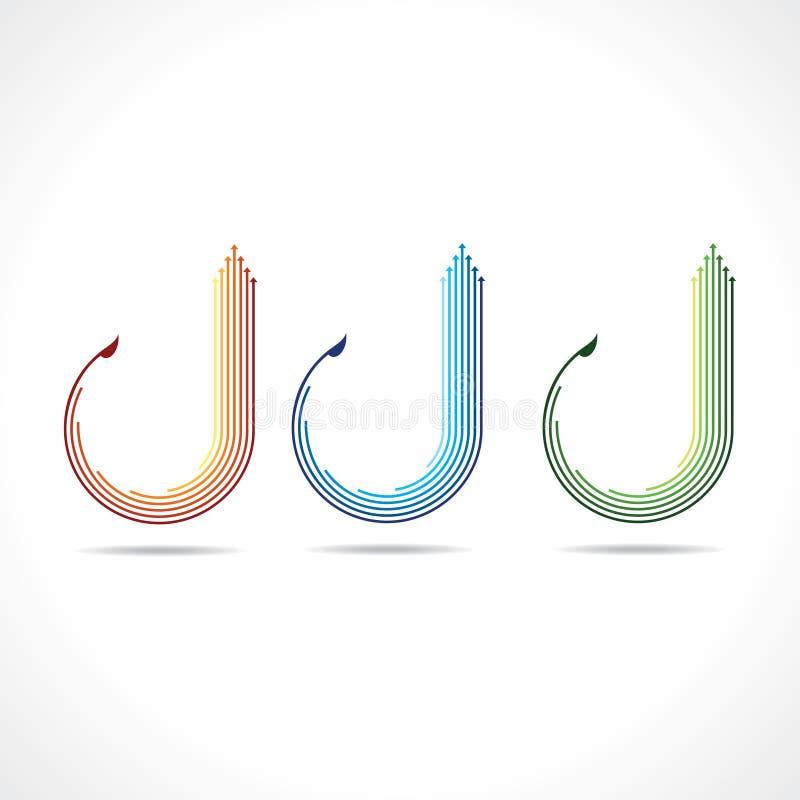 Insieme del logo della freccia illustrazione vettoriale