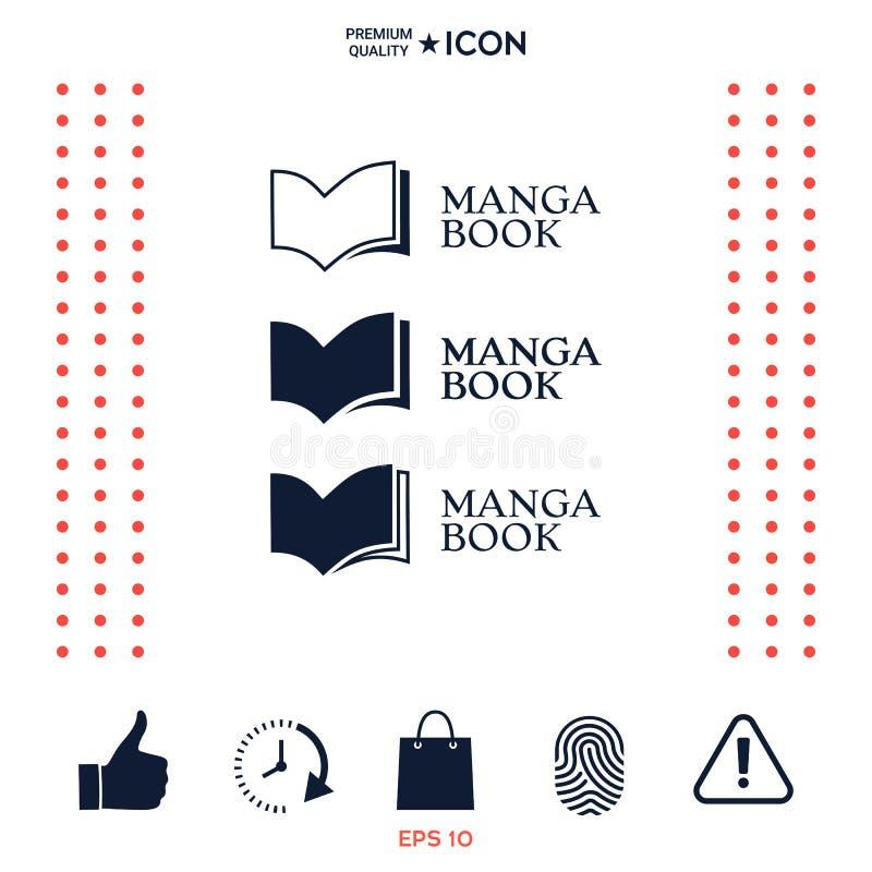 Download Insieme Del Logo Elegante Con Il Simbolo Del Libro Illustrazione Vettoriale - Illustrazione di aperto, concetto: 117976800