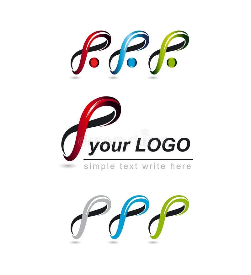 Insieme del logos, progettazione corporativa fotografie stock
