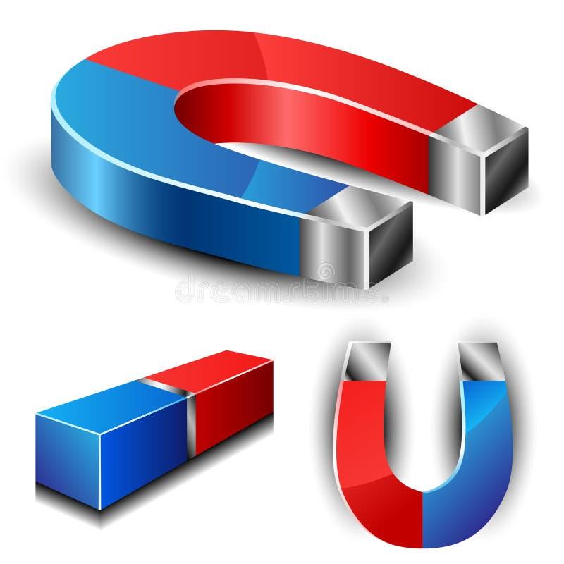 Insieme del magnete illustrazione di stock