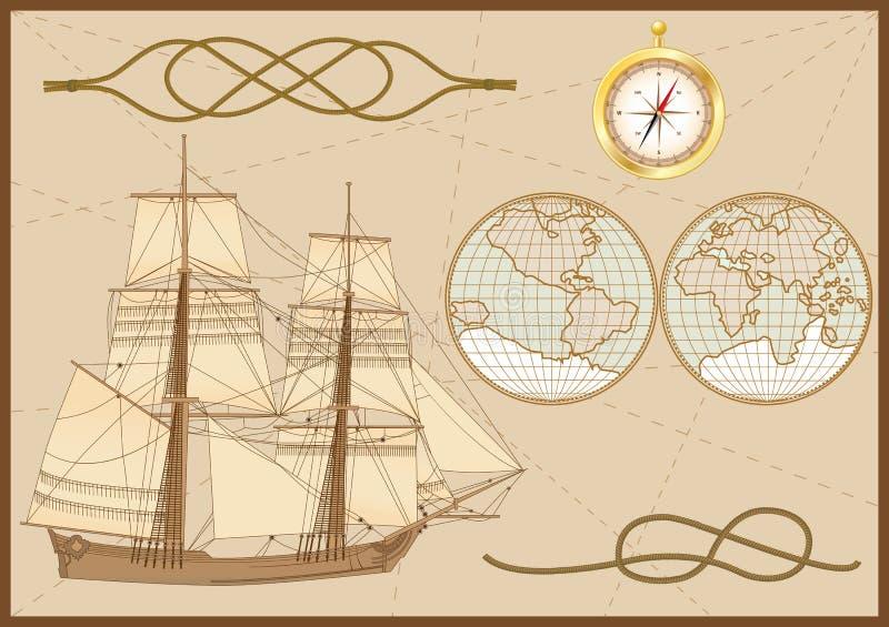 Insieme del mare royalty illustrazione gratis