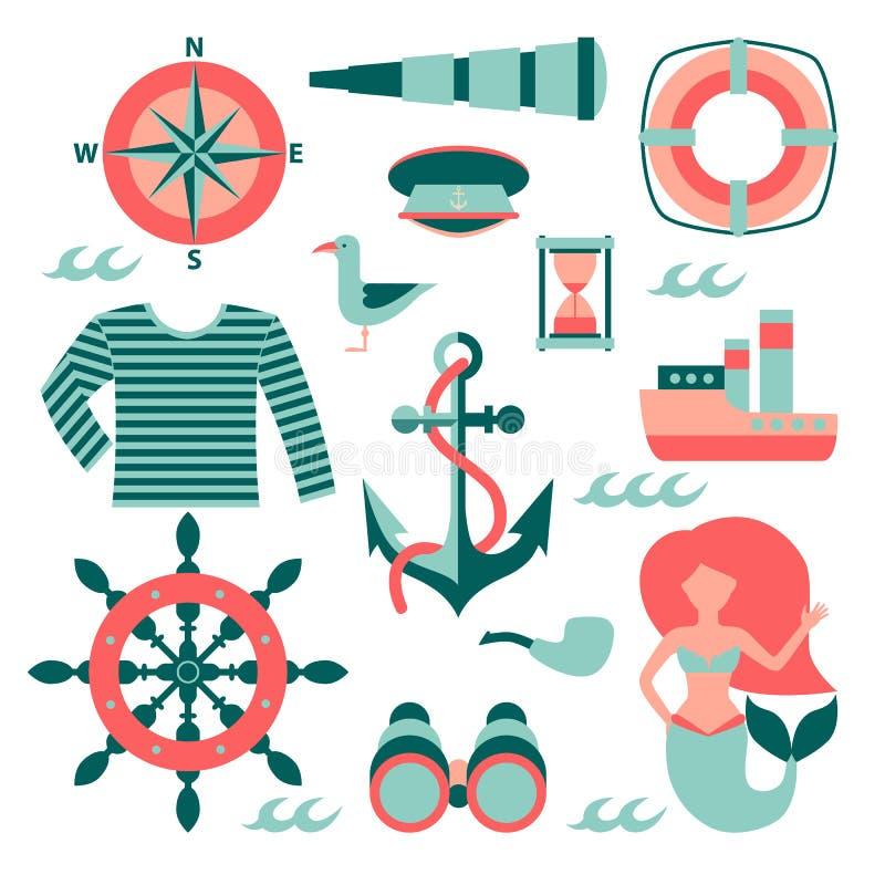 Insieme del marinaio di vettore royalty illustrazione gratis
