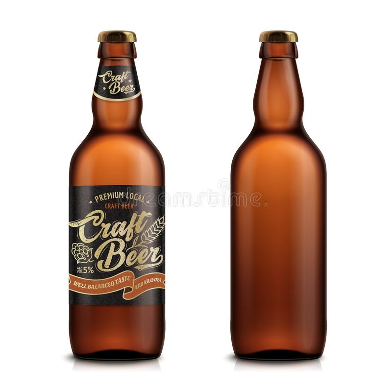 Insieme del modello della birra del mestiere illustrazione vettoriale