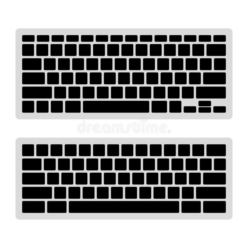 Insieme del modello dello spazio in bianco della tastiera di computer Vettore royalty illustrazione gratis