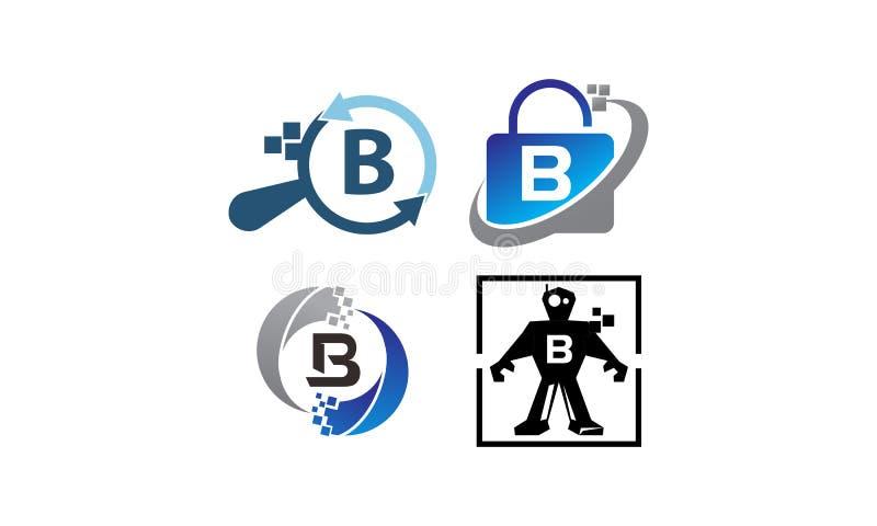 Insieme del modello di applicazione B di tecnologia royalty illustrazione gratis