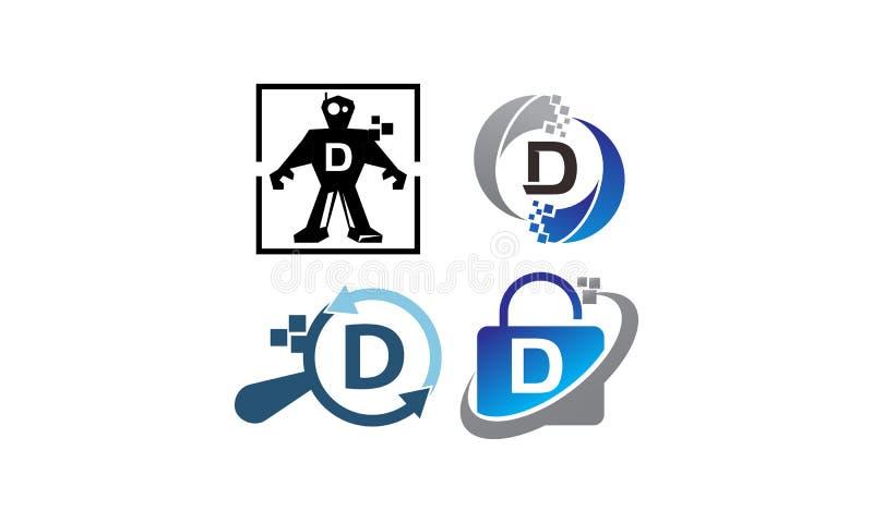 Insieme del modello di applicazione D di tecnologia royalty illustrazione gratis
