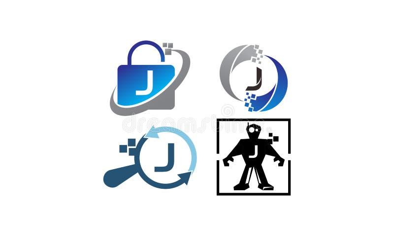 Insieme del modello di applicazione J di tecnologia royalty illustrazione gratis