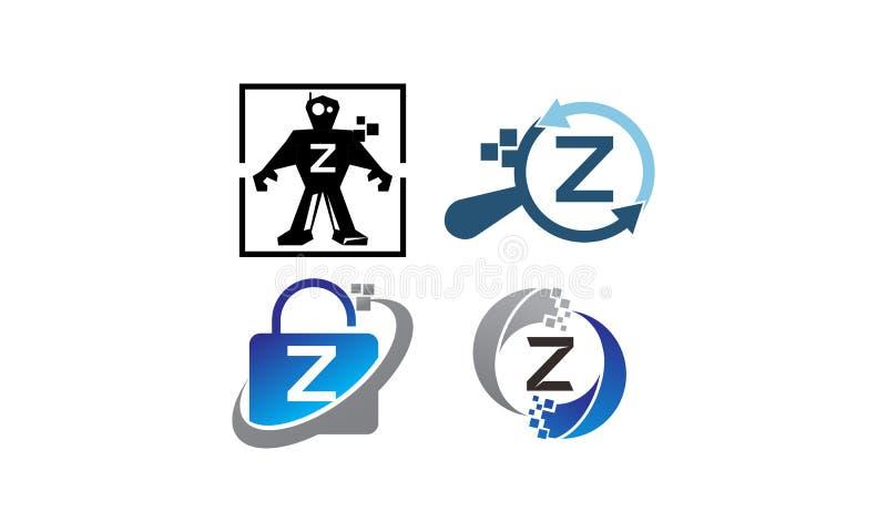 Insieme del modello di applicazione Z di tecnologia illustrazione vettoriale