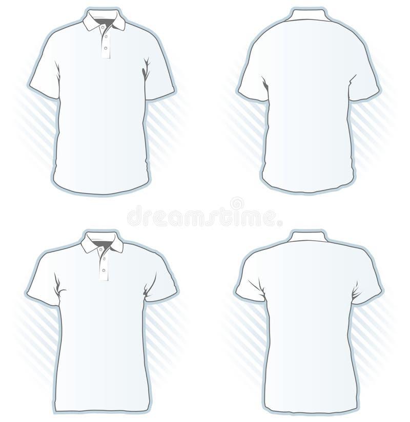 Insieme del modello di disegno della camicia di polo illustrazione vettoriale