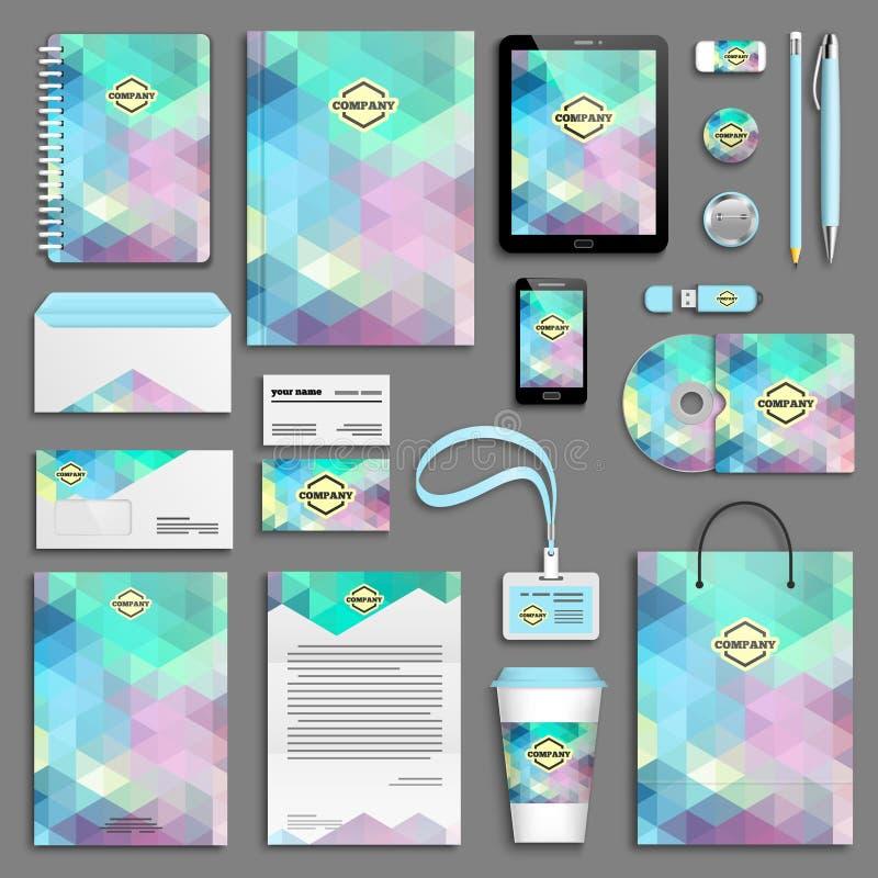 Download Insieme Del Modello Di Identità Corporativa Illustrazione Vettoriale - Illustrazione di blank, azienda: 55359524