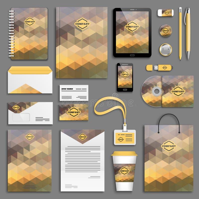 Download Insieme Del Modello Di Identità Corporativa Illustrazione Vettoriale - Illustrazione di documento, concetto: 55359531