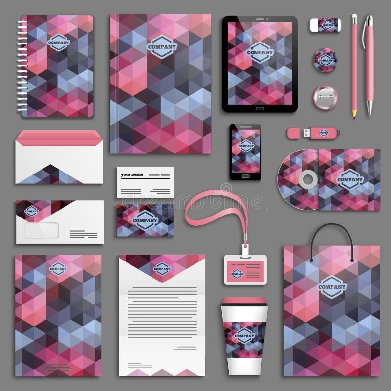 Download Insieme Del Modello Di Identità Corporativa Illustrazione Vettoriale - Illustrazione di advertise, estratto: 55359537
