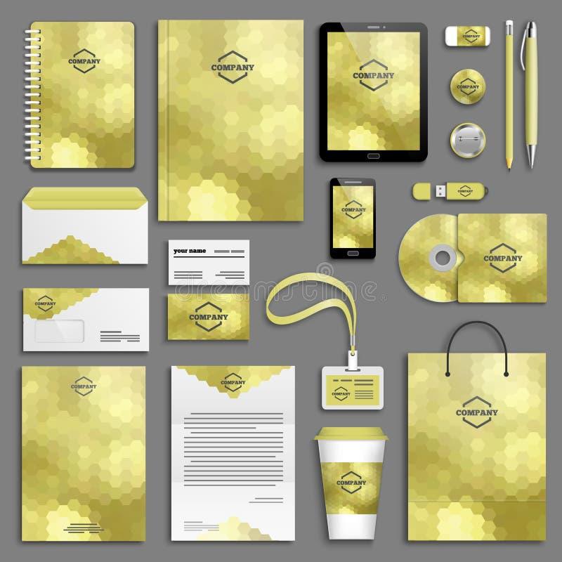 Download Insieme Del Modello Di Identità Corporativa Illustrazione Vettoriale - Illustrazione di libretto, disposizione: 55359542