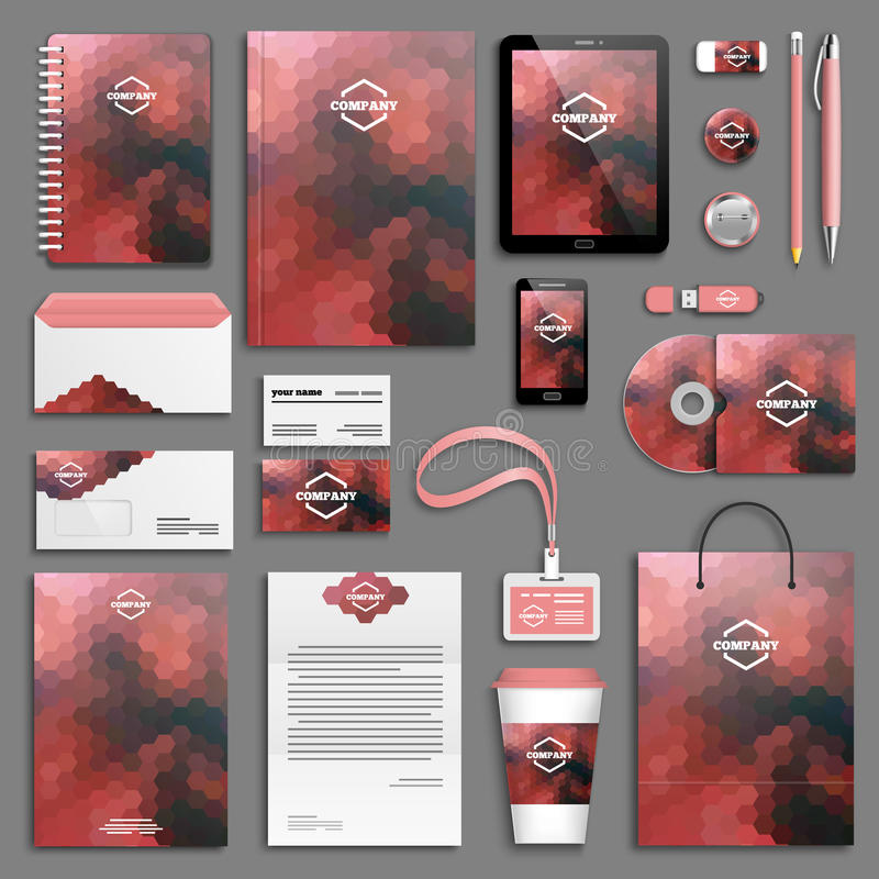 Download Insieme Del Modello Di Identità Corporativa Illustrazione Vettoriale - Illustrazione di disposizione, penna: 55359657