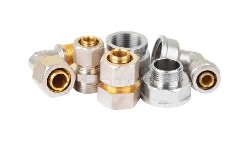 Insieme del montaggio dell'impianto idraulico fotografie stock