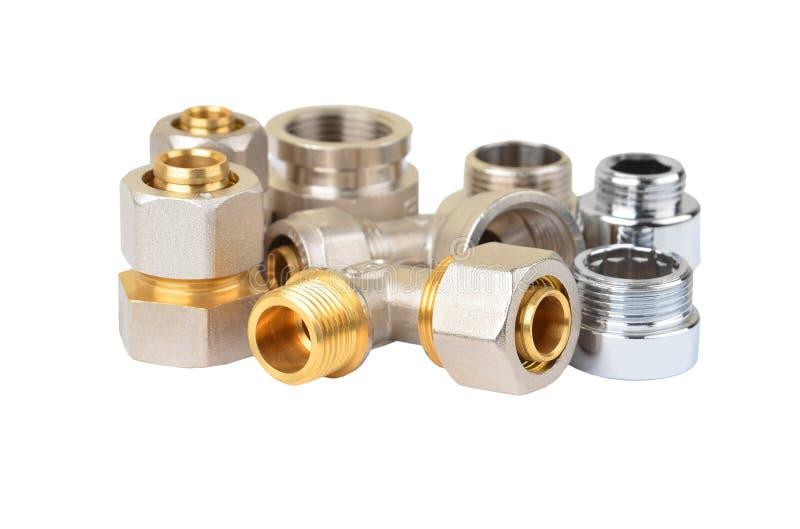 Insieme del montaggio dell'impianto idraulico fotografia stock