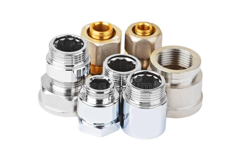 Insieme del montaggio dell'impianto idraulico immagini stock