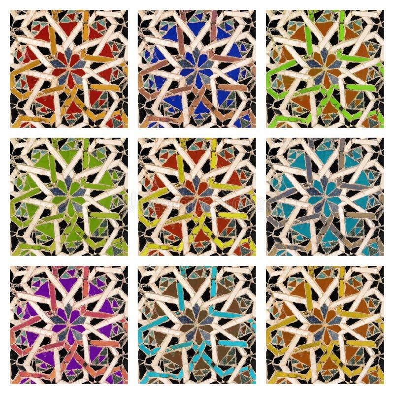 Insieme del mosaico fotografia stock