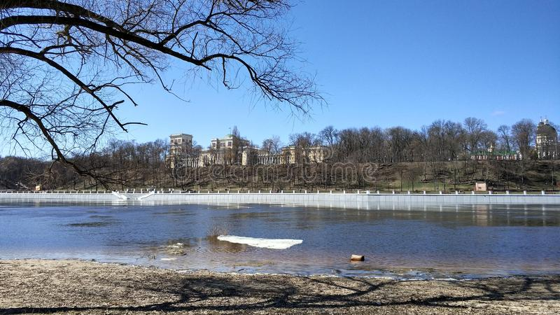 Insieme del palazzo & del parco di Homiel'[il palazzo del Rumyantsevs e del Paskeviches] immagine stock
