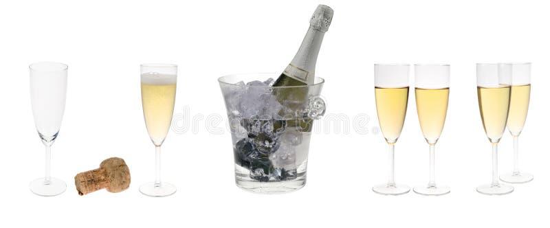 Insieme del partito di Champagne fotografia stock libera da diritti
