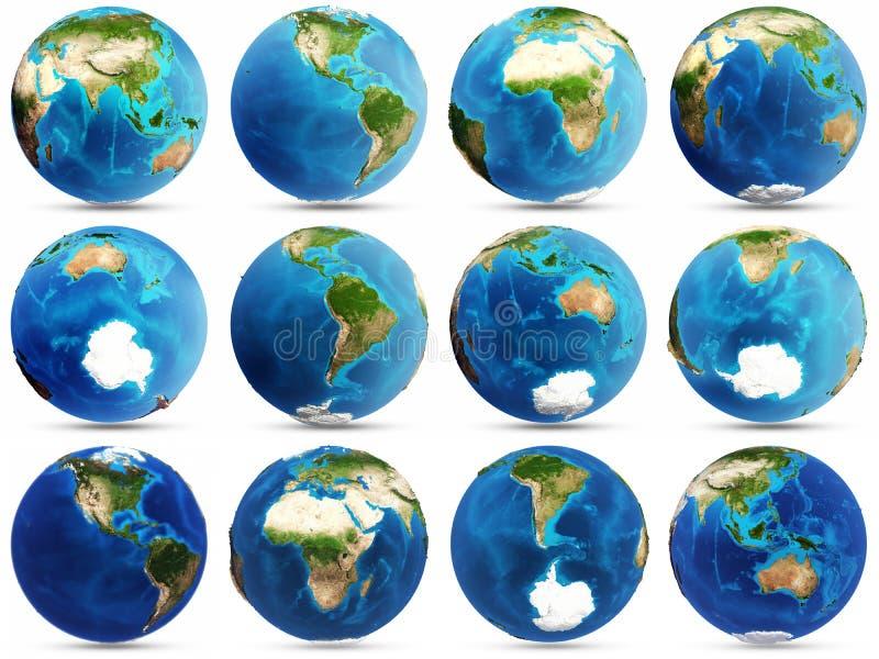 Insieme del pianeta Terra royalty illustrazione gratis