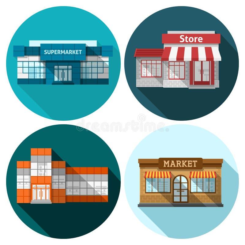 Insieme del piano del negozio illustrazione di stock