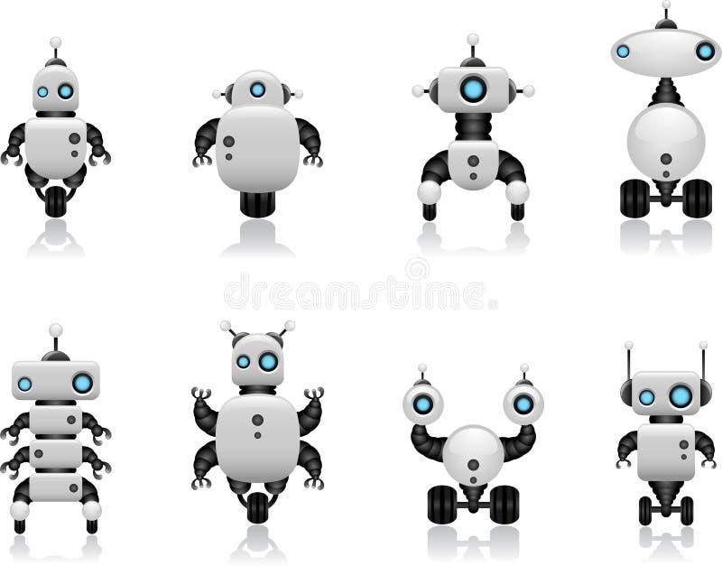Insieme del robot illustrazione di stock