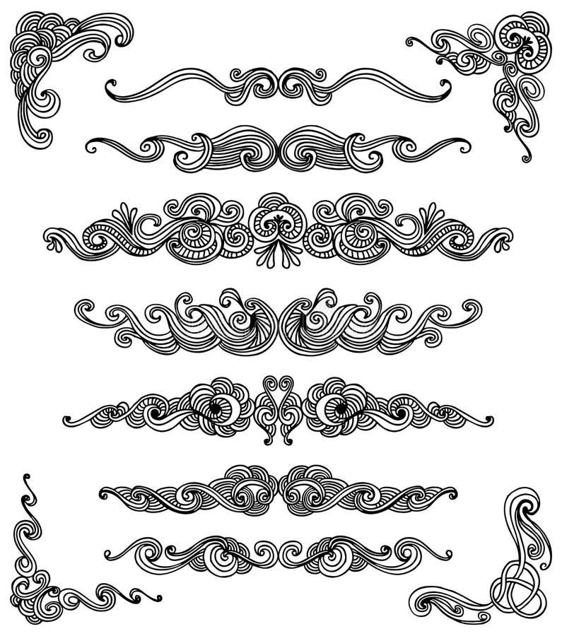 Insieme del rotolo di Doodle royalty illustrazione gratis
