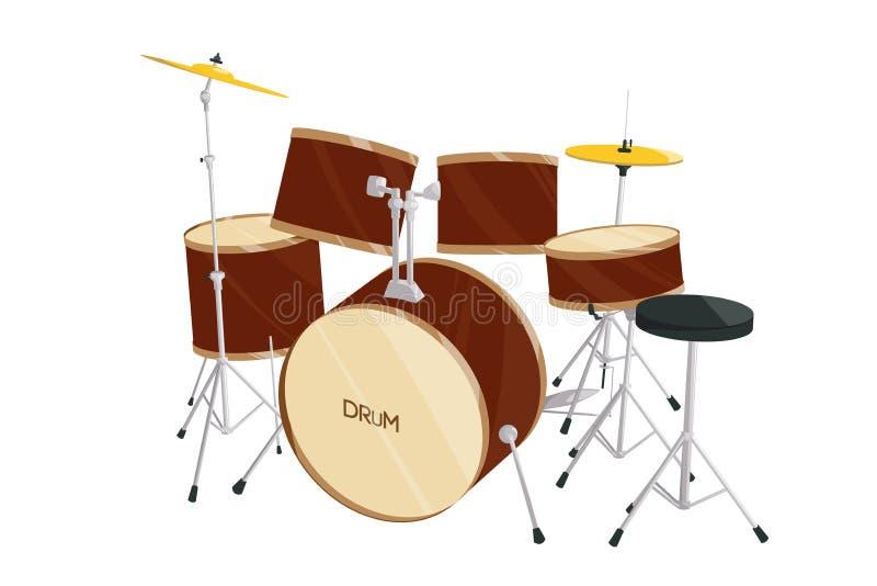 Insieme del tamburo illustrazione vettoriale