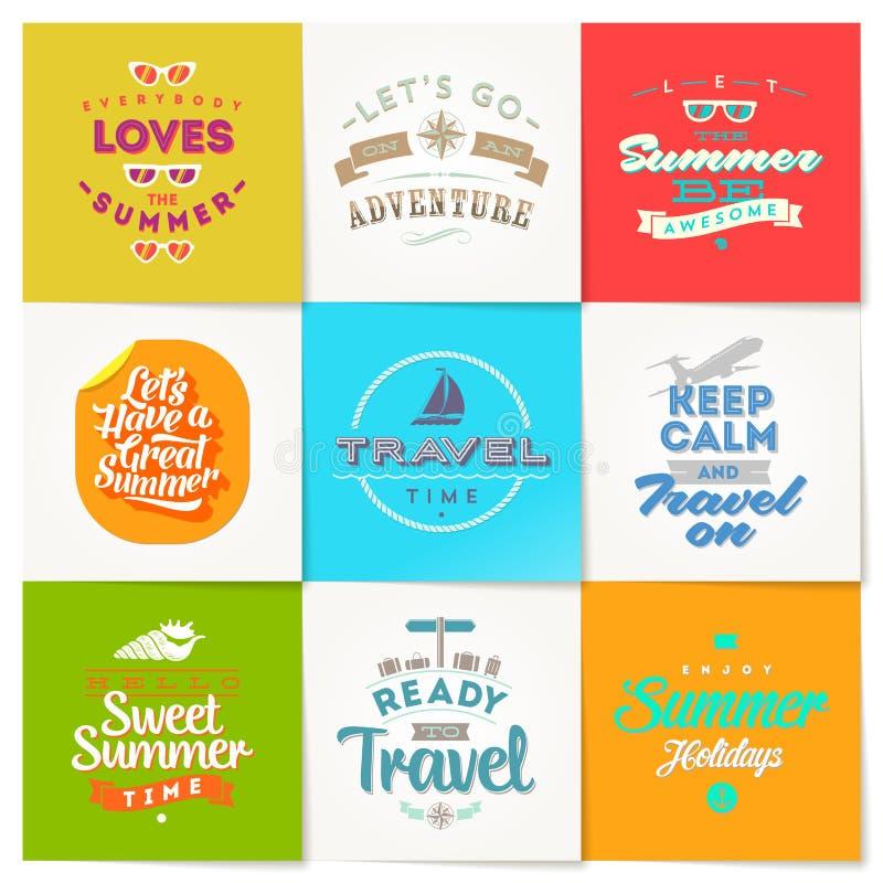 Insieme del tipo progettazione di vacanza e di viaggio