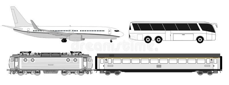 Insieme del trasporto   illustrazione di stock