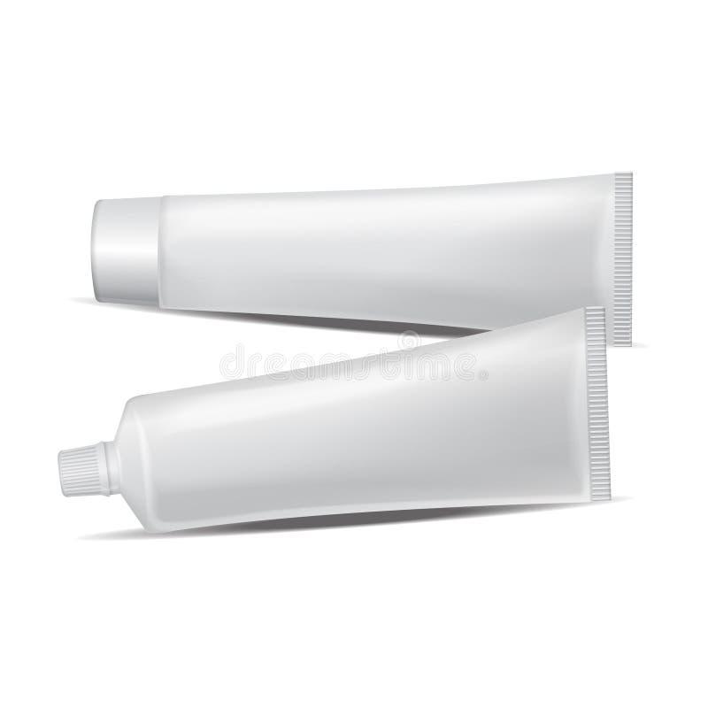 Insieme del tubo di plastica di vettore per medicina o i cosmetici royalty illustrazione gratis