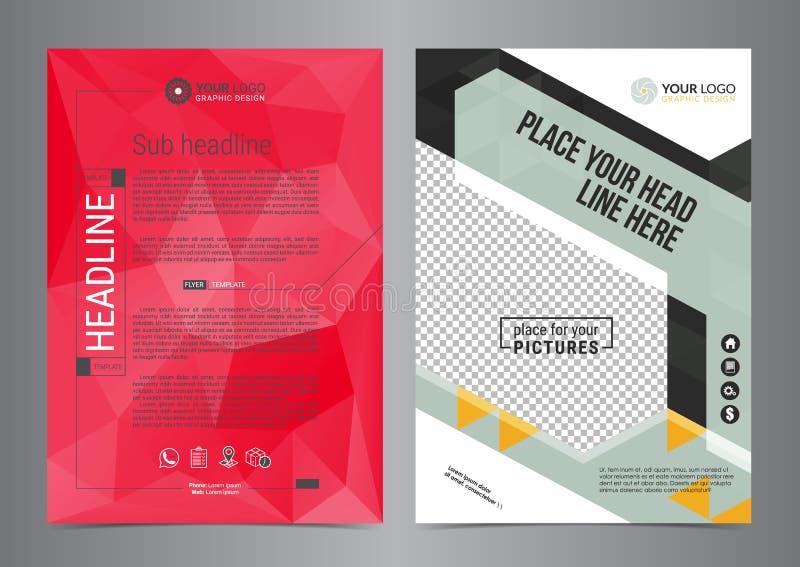 Insieme del vettore dei modelli della disposizione di progettazione dell'aletta di filatoio di affari nella dimensione A4 illustrazione vettoriale