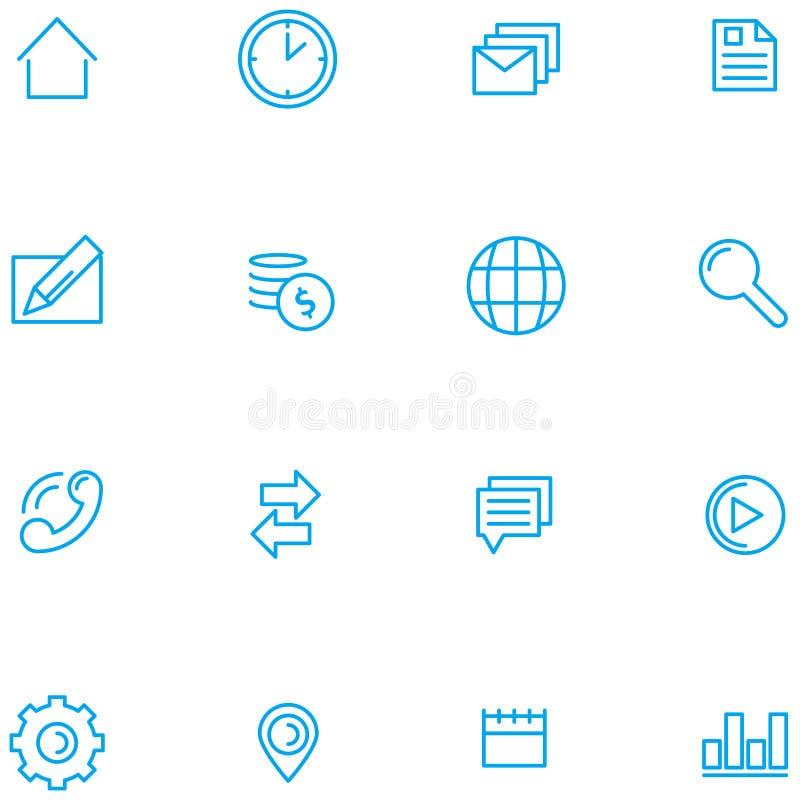 Insieme del vettore delle icone di web royalty illustrazione gratis