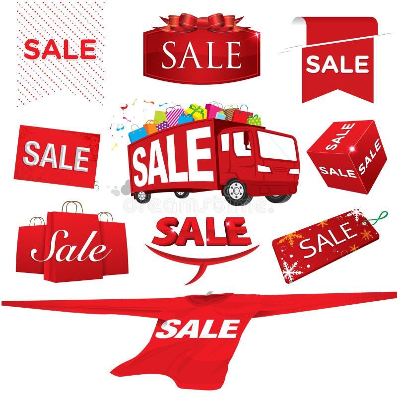 Insieme del vettore di vendita illustrazione di stock
