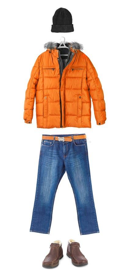 Insieme dell'abbigliamento di inverno fotografie stock libere da diritti