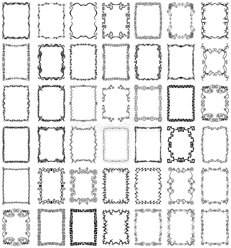 Insieme Dell Accumulazione Dei Blocchi Per Grafici E Dei Bordi Di Vettore Fotografia Stock