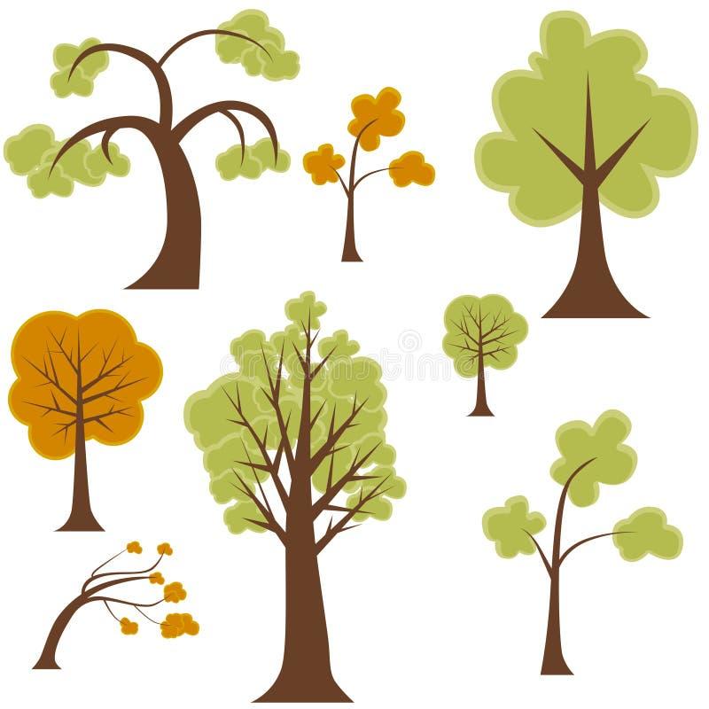 Insieme dell'albero illustrazione vettoriale