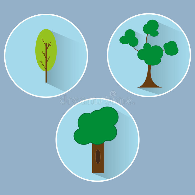 Insieme dell'albero fotografie stock libere da diritti