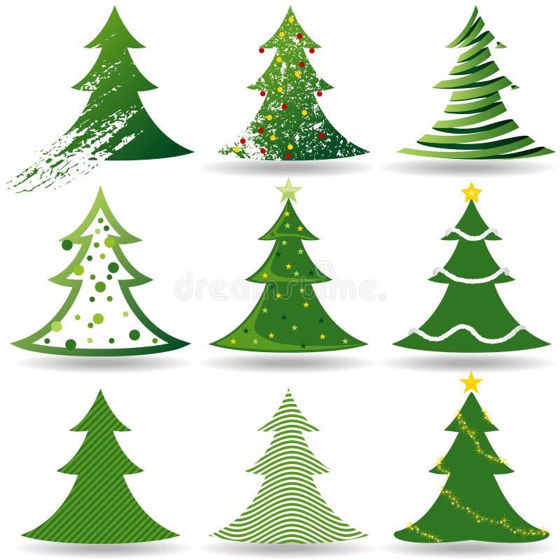 Insieme dell'albero di Natale royalty illustrazione gratis