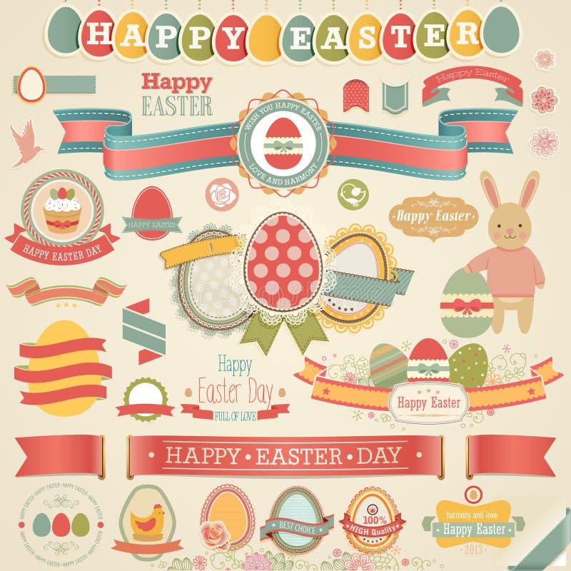 Insieme dell'album per ritagli di Pasqua. royalty illustrazione gratis