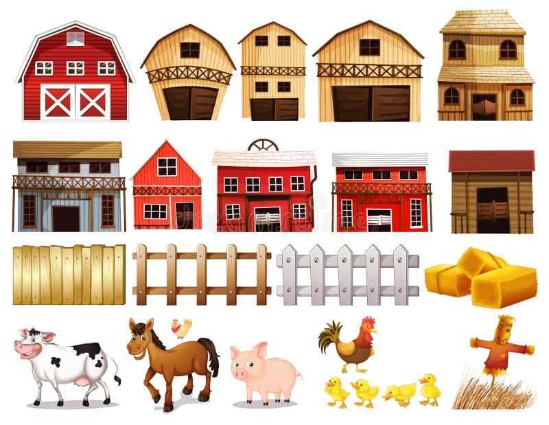 Insieme dell'azienda agricola illustrazione di stock