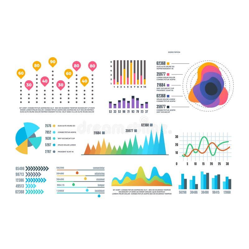 Insieme dell'elemento infographic di affari illustrazione vettoriale