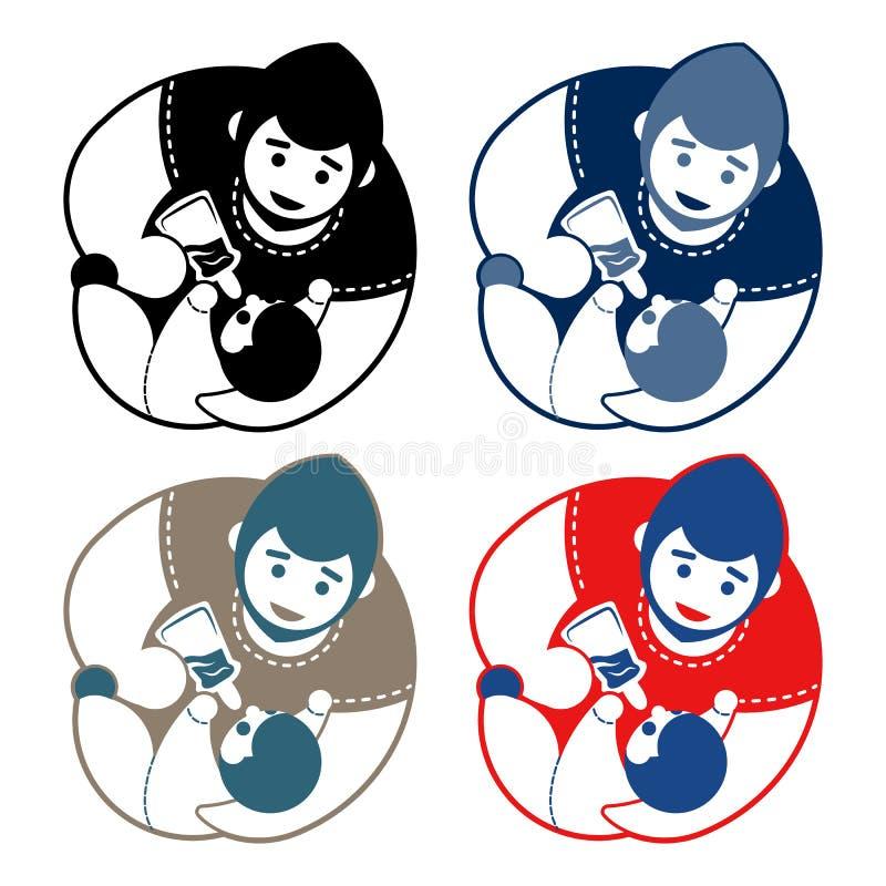 Download Insieme Dell'emblema Del Bambino E Del Padre Illustrazione Vettoriale - Illustrazione di illustrazione, salute: 117978110