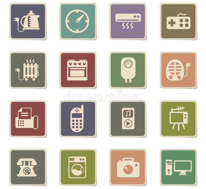 Insieme dell'icona degli elettrodomestici royalty illustrazione gratis