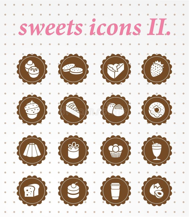 Insieme dell'icona dei dolci icons.vector. illustrazione vettoriale