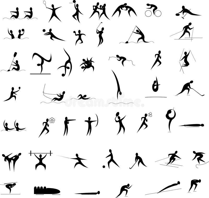 Insieme dell'icona dei Giochi Olimpici illustrazione di stock