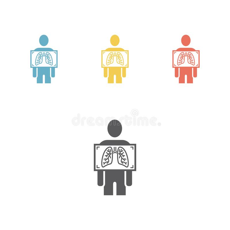 Insieme dell'icona dei raggi x royalty illustrazione gratis