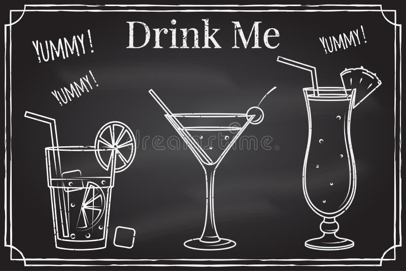 Insieme dell'icona del cocktail Bevami Elementi sul tema dell'affare di ristorante royalty illustrazione gratis